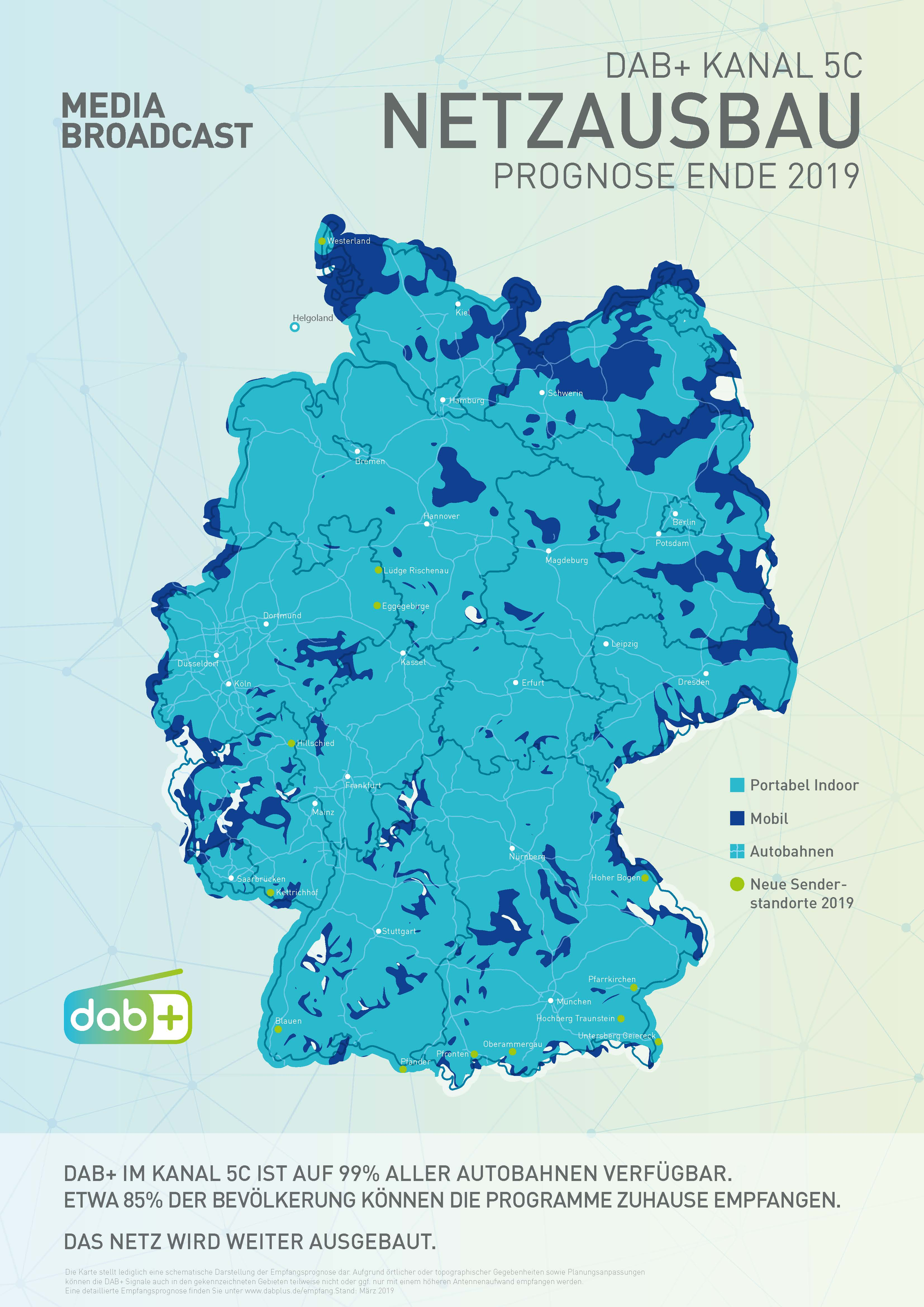 Dab Radio Empfang Karte.Bundesweites Dab Netz Wächst Deutschlandradio Programme Bald An